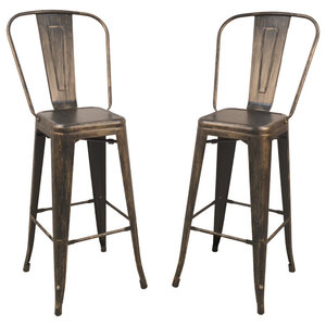 Awe Inspiring Luxor Metal Stools Set Of 2 Industrial Bar Stools And Gmtry Best Dining Table And Chair Ideas Images Gmtryco