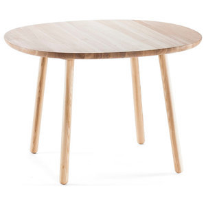 Naïve D1100 Round Wooden Dining Table, Natural Ash Base