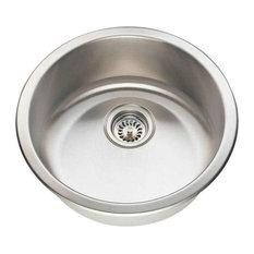 Polaris P564 Circular Stainless Steel Bar Sink, Brushed Satin