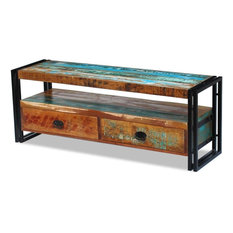 VidaXL TV Cabinet Solid Reclaimed Wood Display Stand Entertainment Center Unit