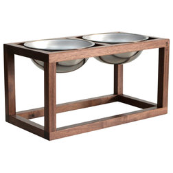 Transitional Pet Bowls And Feeding by Wake the Tree Furniture Co.
