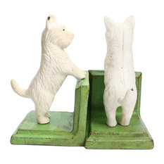 Standing Westie Bookend, Cast Iron, White