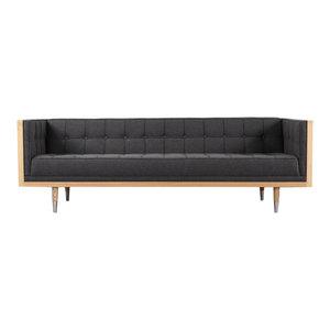 Superb Woodrow Midcentury Modern Box Distressed Leather And Walnut Ibusinesslaw Wood Chair Design Ideas Ibusinesslaworg
