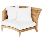 """Oasiq - OASIQ Limited 200 Sectional, Left With Canvas Natural Cushions - The Limited collections fused the best of contemporary designs with the finest teak. There are several styles that will accommodate your needs. Limited collections can be used in any environment, at your beach house or simply in your al fresco kitchen. The best is, this collection is in stock and ready to ship.  Seat height: 9"""""""
