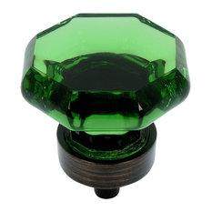 Cosmas 5268ORB-EM Oil Rubbed Bronze and Emerald Glass Cabinet Knob