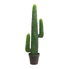"Vickerman 49"" Green Aloe Plant in Gray/Lt Red Pot"
