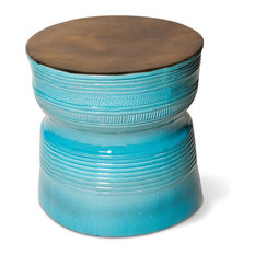 Ancaris Ring Accent Table, Turquoise Blue