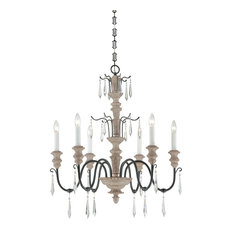 Distressed wood chandeliers houzz savoy house madeliane 6 light chandeliers distressed white wood and iron chandeliers aloadofball Images