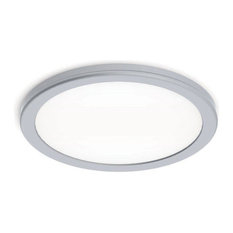 "WAC Lighting Geos 10"" LED Soft White Flush Mount, Titanium"