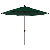 11' Aluminum Market Umbrella Auto Tilt Bronze, Olefin, Hunter Green