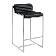 Zola Leather Stool Black Counter Height