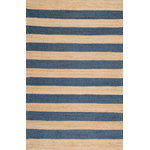 nuLOOM - Jute And   Even Stripes, Denim, 6'x9' - Made from the finest materials in the world and with the uttermost care, our rugs are a great addition to your home.