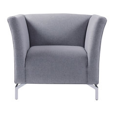 Camilla Mid-Century Modern Chair, Light Gray