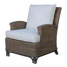 Panama Jack Exuma Lounge Chair With Cushion, Kubu Gray