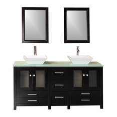 Contemporary Bathroom Vanity Model Contempo 500 With Mirrors