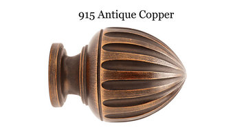 Select Limited Drapery Hardware - Wood Curtain Rod Finials