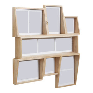 Umbra Edge Multi Photo Display, 58x53x6 cm, Natural