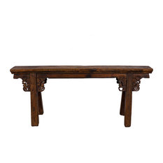 Golden Treasures   Consigned Chinese Antique Country Bench/Coffee Table  27B09D   Coffee Tables