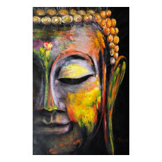 """""""Colorful Buddha"""" Oil Painting"""