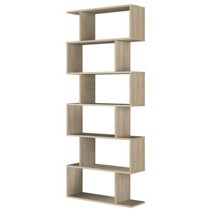 Athena Tall Shelving Unit, Natural Wood