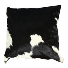 """Black and White Traditional Cowhide Large Pillow Case, 20""""x20"""""""