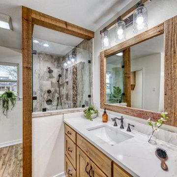 Rustic Master Bathroom Remodel