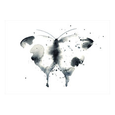 Butterfly A3 Poster Print, Black and White