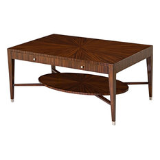 Scarborough House Cocktail Table Rosewood MidMod Chic  Nickel Plated