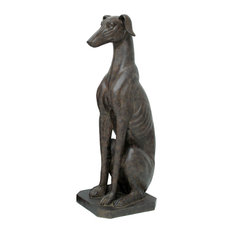 Elandecor - 31-Inch Tall Sitting Greyhound Statue - Decorative Objects and Figurines