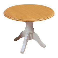 4 Person Chadwick Painted Oak Round Dining Table