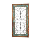 Spanish Large Architectural Window, Turquoise, Small