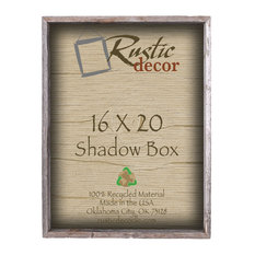 rustic decor llc edmond barn wood collectible shadow box 16x20