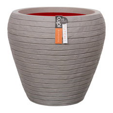 Nature Row Tapered Plant Pot, Grey
