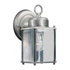 Forte Lighting 1005-01 Craftsman / Mission Outdoor Wall Sconce - Olde Nickel