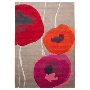 Sanderson Poppies Rug, Red, 200x280 cm