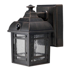 Most popular motion sensor outdoor wall lights and sconces houzz fulcrum products fulcrum wireless led craftsman style porch light bronze outdoor wall aloadofball Images
