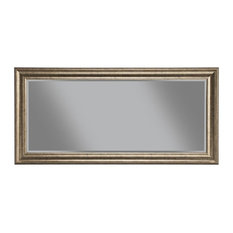 Framed Full Length Leaning Mirror, Antique Gold