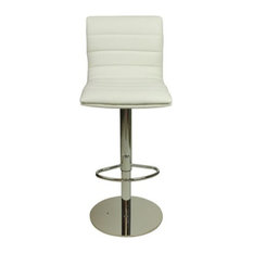 Deluxe Weighted Majorca Faux Leather Bar Stool, White