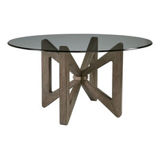 Artistica Home 2081-870-56C-41 Butterfly Round Dining Table, Gray