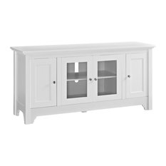 52-inch Wood TV Media Stand Storage Console Wite