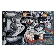Mozaico - Figurative Abstract Mosaic, Tile Art - Tile Murals