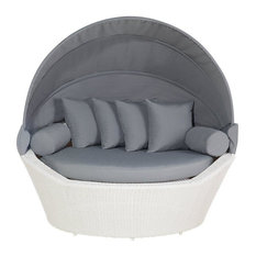 Sylt Rattan Garden Sofa With Cushions, White