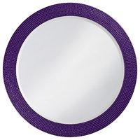 Lancelot Glossy Round Mirror, Royal Purple