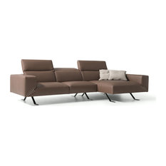 Henry Sectional 100% Made In Italy Chaise On Right When Facing Taupe