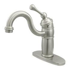 Kingston Brass Single-Handle Monoblock Bar Faucet, Brushed Nickel