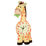 Fantasy Fields - Fantasy Fields, Sunny Safari Giraffe Wall Clock - In a hurry to teach your little one to tell time? The Wall Clock is a perfect way. The animal character will be a perfect decor for their room. This clock is as unique as it is beneficial. No assembly required. Perfect for all ages.