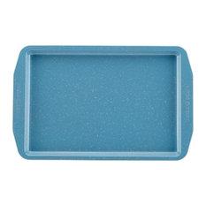 """Paula Deen 46249 Speckle Nonstick Bakeware 10x15"""" Cookie Pan, Gulf Blu"""