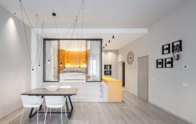 Visite Privée : Une chambre dans le salon et une cuisine discrète