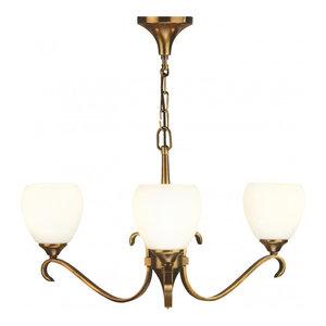 Pendant Light - Antique brass finish & matt opal glass
