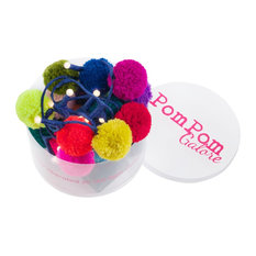 Pom Pom LED Lights, Rainbow